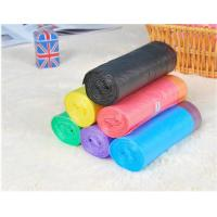 HDPE Packaging Home Garbage Bags , Drawstring Trash Can Liners Customized Size Manufactures