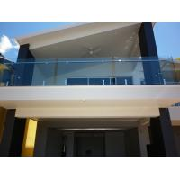 Balcony Transparent Tempered Railing Glass 12mm Thickness No holes Manufactures