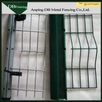 Hot Dip Galvanized Curved Welded Wire Garden Fence PVC Coated Surface Manufactures