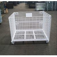 Powder Coated Collapsible Wire Container Rust Resistant Long Life Span Manufactures