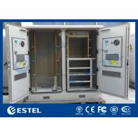 Weatherproof Network Base Station Cabinet , Large Outdoor Electrical Cabinet Manufactures