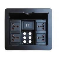 Table Mount Desk Power Outlet , Usb Conference Table Electrical Box 236*190mm