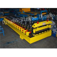 Cheap 380V 50Hz Steel Tile Roll Forming Machine with PLC Compture Control System / Cr12mov Blade for sale