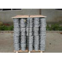 Anti Climb Cross Wire Fence Sharp Coiled Barbed Wire For Government Buildings Manufactures