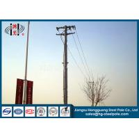 Cheap Anti Corrosive 13.8kv 35ft Transmission Line Steel Tubular Pole With Flange Connection for sale