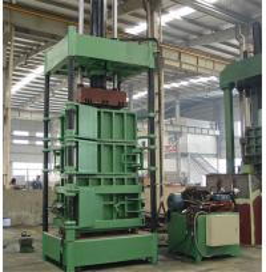 2.2 KW Power Vertical Cardboard Paper Baler Machine With Special Forklift