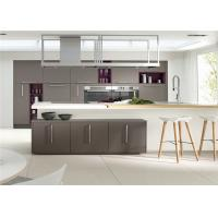 MDF Kitchen Customized Cabinets With White Quartz Countertop Manufactures