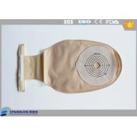 Hydrocolloid One - Piece System , 1 Piece Colostomy Bag With Steel Wire Closure Device Manufactures