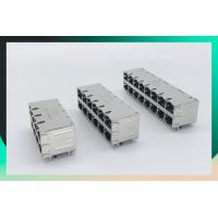 China Shield Multi Port Connector , 2X8 Port RJ45 Connector With 1000 Base - T Integrated Magnetics Tab Up / Down on sale