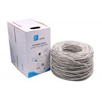 China 24AWG 0.5mm pass fluke Premium Solid UTP Cat5e Ethernet Cables grey 1000 Feet on sale