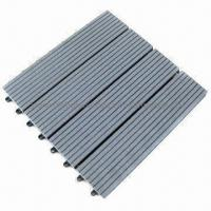 WPC tile, deck tile, DIY tile, garden using, water-resistant, wood plastic composite material Manufactures