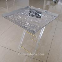 Eye - Catching Custom Acrylic Furniture Folding Snack Table Snack Tray Manufactures