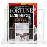 Elegant Acrylic Brochure Stand Clear Acrylic Magazine Display Rack Simple Design Manufactures