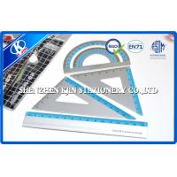 Custom Metric Scale Ruler With Logo , 7cm /10cm / 15cm Aluminum Ruler Set Manufactures