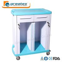 Medical Equipment Medical Case History Trolley Double Rows and Single Row Manufactures