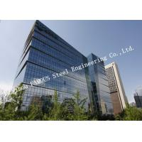 Aluminum Frame Insulation Double Glass Curtain Wall For Commercial Office Building Manufactures