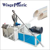 Plastic Conical Twin Screw Extrusion Line for PVC Pipe with Powder Materials Manufactures