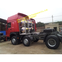 High Cab HW79 Two Sleeper 6x2 Heavy Duty Tractor Truck Manufactures