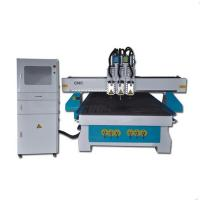 Buy cheap Dsp 6KW water cooling spindle 4x8 ft 3 head cnc wood router machine for sale from wholesalers