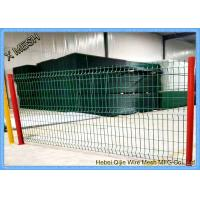 2.5m Width Powder Coated Welded Wire Fence Panel / 3D Wire Mesh Fence Manufactures