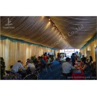 6M Span Commercial Rain Tents Outdoor Event Canopy With Luxury Decorations
