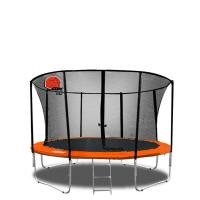 10ft black orange secure durable spring free Jumping Trampoline OF PVC Material Manufactures