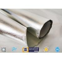 0.85mm Thick Silver Coated Fabric 95% Heat Reflection Aluminium Foil Laminated Manufactures