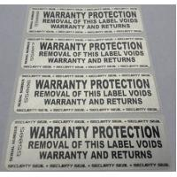 Custom Printing Permanent Security Labels / Alarm Stickers Waterproof Anti Counterfeit Manufactures