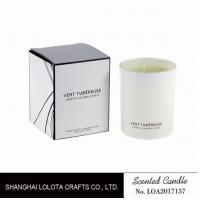 Living Room Natural Soy Candles , Decorative Scented Candles In The Light White Color Bottle Manufactures