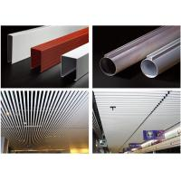 China Excellent Aluminum Tube Metal Baffle Ceiling Waterproof For Home / Hotel / Opera on sale