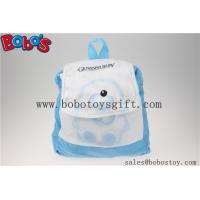 """11.8""""Blue and White Children Backpack Has a Pattern of Bear Bos-1232/30cm Manufactures"""