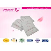 Disposable Regular Sanitary Napkins , Butterfly Design Cotton Feminine Pads Manufactures