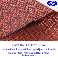 Mjacquard Sudoku Pattern Red Carbon Fiber Fabric With Low Flammability Manufactures