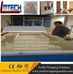 wood grain kitchen cabinet door vacuum membrane press machine Manufactures
