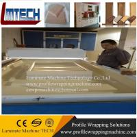 China vinyl wrapped kitchen cabinet doors vacuum membrane press machine on sale