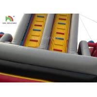 Quality Red Car Cartoon Inflatable Dry Slide Double Lanes For Boys / Kids Outdoor for sale