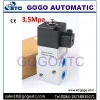 Cheap Industrial 3 Way Air Compressor High Pressure Solenoid Air Valve 1/4 1/2 Pipe Size for sale