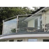 Anti Rust Stainless Steel Glass Railing Top Mount / Side Mount For Decoration Companies Manufactures