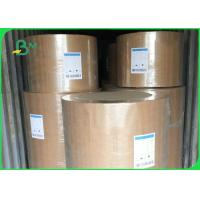 China Eco Friendly Kraft Paper Jumbo Roll 120gsm Customized Size For Fast Food Wrapping on sale