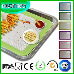 Silicone Baking Mat 2-Pk - Fits Half Sheets - Blue, Red colors - Bonus Cookbook, Lifetime Guarantee Manufactures