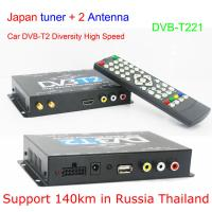 DVB-T221 Car DVB-T2 DVB-T MULTI PLP Digital TV Receiver automobile DTV box