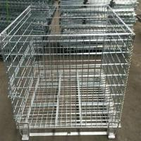 Heavy Duty 50mm Galvanized Welded Metal Storage Cages for Transportation Manufactures