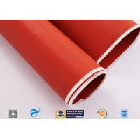 Non Flammable Abrasion Resistance Silicone Coated Fabric 1010g High Strength Manufactures