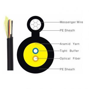 Black Color FTTH Indoor Drop Cable 1/2/4 Core Figure 8 G652D G657A OM1 OM2 OM3 Manufactures