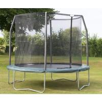 Park amusement 12FT heavy duty black Jumping Trampoline and enclosure Manufactures