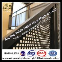2.0 thick decorative hole perforated metal sheet for Stair railing Manufactures