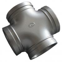 High End Ductile Iron Pipe Fittings , Grooved Pipe Couplings Equal Cross Epoxy Manufactures