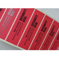 Glossy Security Sealing Non Residue Security Labels With Custom Logo And Printings