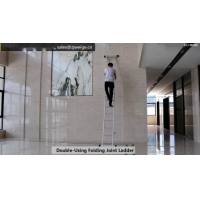 Collapsible 7.02m 2X13 Folding Step Ladder Manufactures