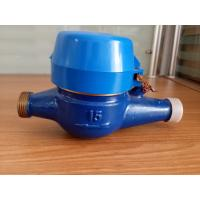 Dry Type Multi Jet Cold Water Water Meter , 15mm Water Meter Brass Body Manufactures